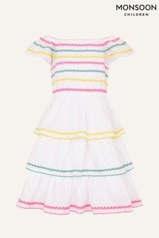 Monsoon naturelkleurige Fiesta Ricrac jurk van biologisch katoen