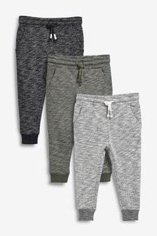 Фактурные спортивные штаны, 3 шт. (3 мес.-7 лет)