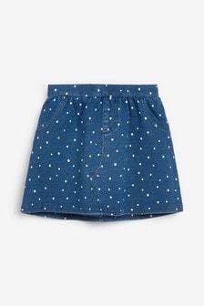 Джинсовая юбка в горошек (3 мес.-7 лет)