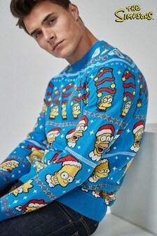 Simpsons-Weihnachtspullover mit Rundhalsausschnitt