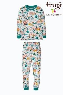 Frugi White India Print Organic Cotton Pyjamas