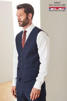 Signature Empire Mills Fabric Flannel Suit: Waistcoat