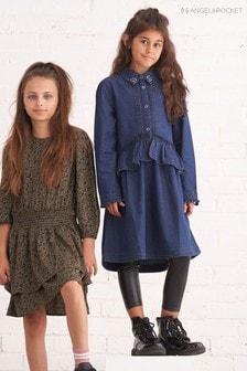 Angel & Rocket Blue Peplum Shirt Dress