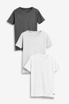 Vrúbkované tričká, 3 ks (1,5 - 16 roky)