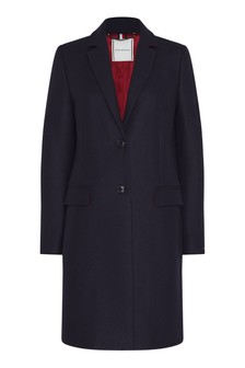Tommy Hilfiger Blue Curve Essential Wool Classic Coat
