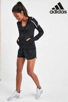 מכנסיים קצרים עם שלושה פסים של adidas, דגם D2M בצבע שחור