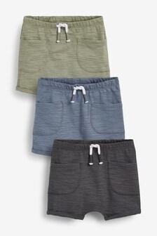 3 Pack Organic Cotton Shorts (0mths-2yrs)