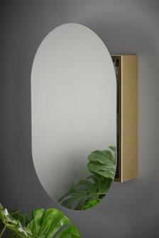 Oválne zrkadlo so skrinkou
