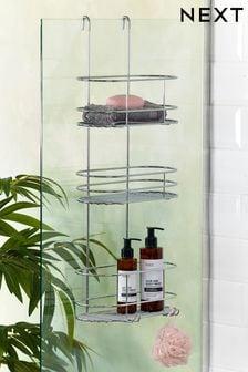 Trojitá závesná polička do sprchovacieho kúta
