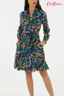 Cath Kidston® Blue Twilight Garden Shirt Dress