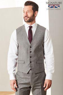 Signature Flannel Suit: Waistcoat