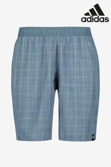 adidas Blue Classic Check Swim Shorts