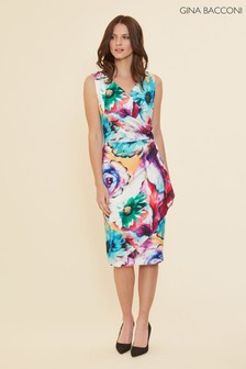 Gina Bacconi Islette Floral Wrap Dress