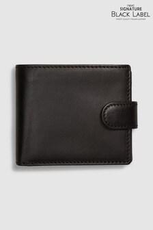 Signature Black Label Italian Leather Extra Capacity Bifold Wallet