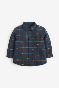 Check Embroidered Long Sleeve Shirt (3mths-7yrs)