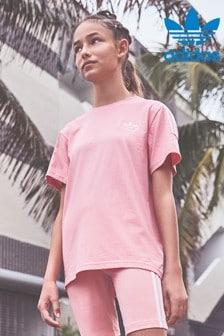 Ružové tričko adidas Originals Lock Up