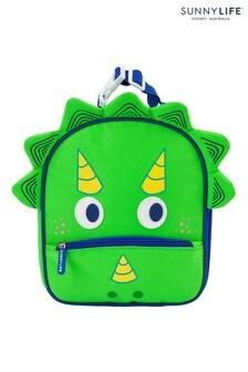 Sunnylife Green Dinosaur Lunch Bag