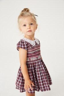 Нарядное платье с кружевным воротником (3 мес.-7 лет)