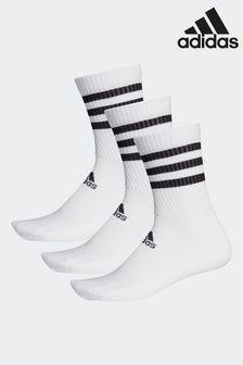 adidas Socken mit 3 Streifen für Kinder, Weiß, {[#1]}er-Pack