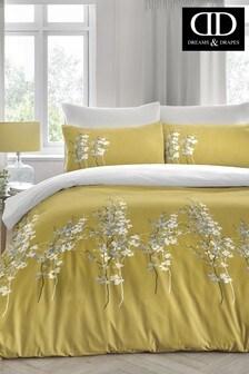 D&D東方花朵被套和枕頭套裝