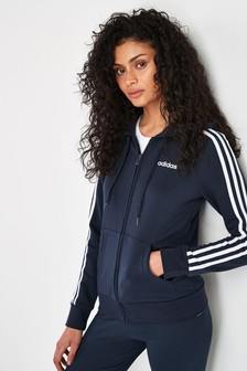 adidas 3 Stripe Zip Through Hoody