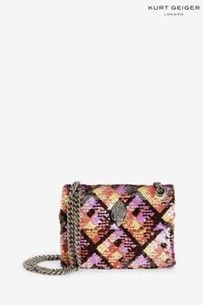 Kurt Geiger London Kensington Kleine Tasche mit Pailletten, Pink