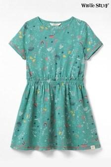 White Stuff Tammy Jerseykleid für Kinder, Grün