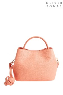 Oliver Bonas Pink Kamora Tubular Cross Body Bag