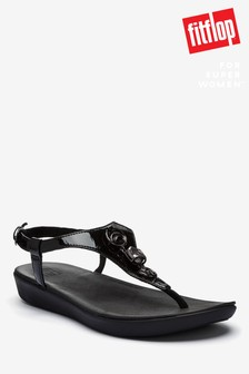 FitFlop™ Lainey Embellished Crinkle Patent Back Strap Sandals