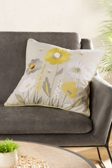 Wildflower Spring Floral Cushion