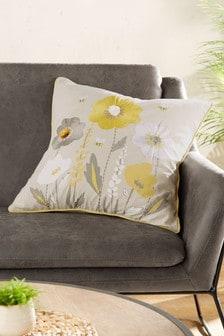 Wildflower våren blommig kudde