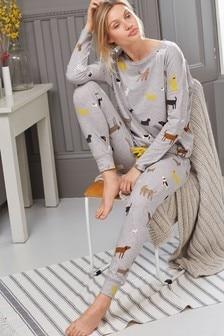 Cotton Tie Hem Pyjamas