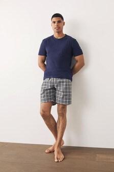 Woven Check Short Pyjama Set