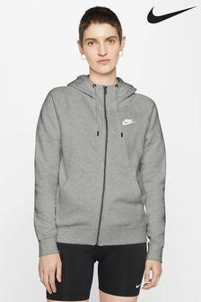 Flaušová mikina na zips Nike Essential