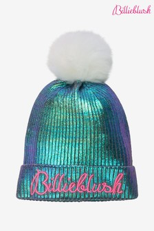 Billieblush Silver Bobble Hat