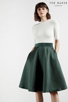שמלה עם חצאית מלאה של Ted Baker דגם Betsiyy בעיטור תפרים