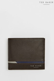 Ted Baker Sailbot Striped Leather Bifold With Coin