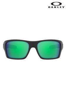 Oakley® Black/Green Turbine Sunglasses