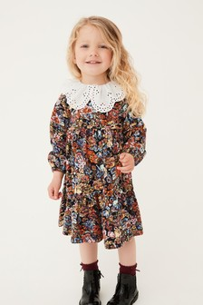 Floral Dress With Collar (3mths-7yrs)