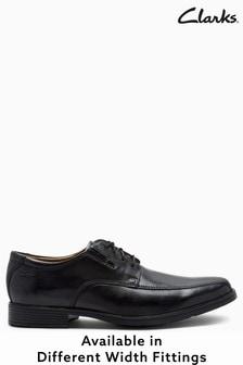 Clarks Tilden Walk Schuhe, weite Passform, schwarz