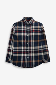 Check Long Sleeve Shirt (3-16yrs)