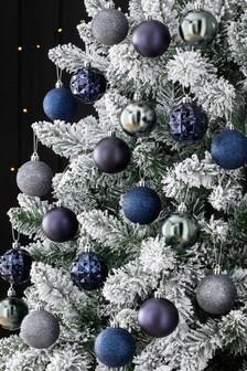 Темно-синие небьющиеся елочные шары (20 шт.)