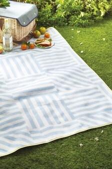 Stripe Fleece Picnic Blanket