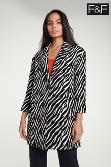 F&F Multi Zebra Formal Coat