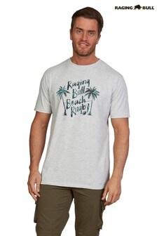 Raging Bull Grey Marl Palm Tree T-Shirt