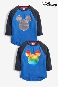 Mickey Mouse™ T-Shirt mit Wendepailletten in Regenbogenfarben (9Monate bis 8Jahre)