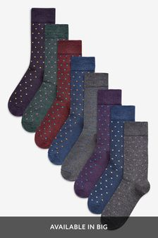Small Spot Socks Eight Pack