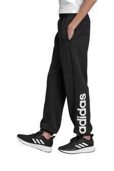 Черные спортивные брюки с надписью сбоку adidas Essentials
