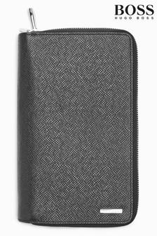Черный коллекционный дорожный бумажник BOSS