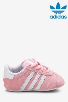 Розовые пинетки-кроссовки adidas Originals Gazelle